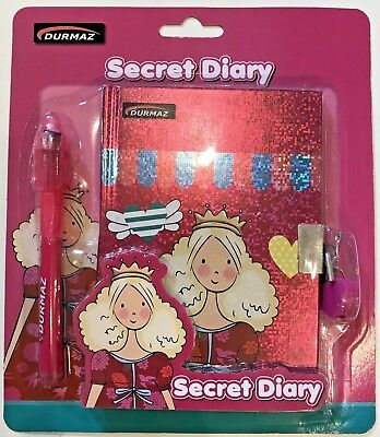 My Secret Diary-Princess Themed With UV Light Magic Pen and Lovely Pink Lock Set