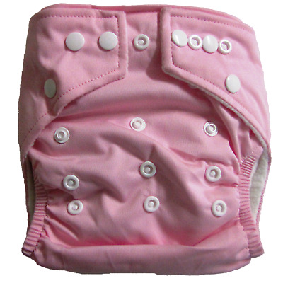 NEW Baby Reusable Stay Dry Bamboo Cloth Nappy - Pink