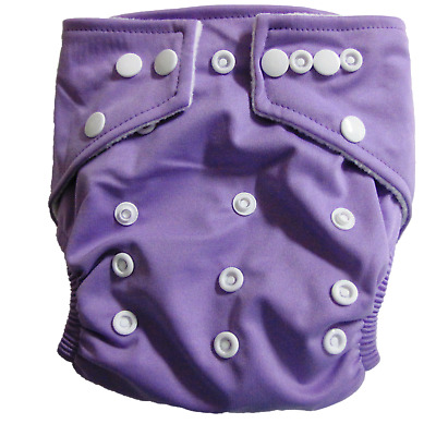 NEW Baby Reusable Stay Dry Bamboo Cloth Nappy - Purple