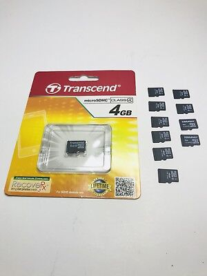 Mixed Lot Of (11) 4GB Micro SD Cards Memory Cards -Tested- 100% Working