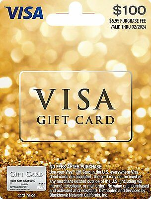 2X $100 = $200 NonReloadable VISA Card. No fees, Free fast 2-Day Delivery.