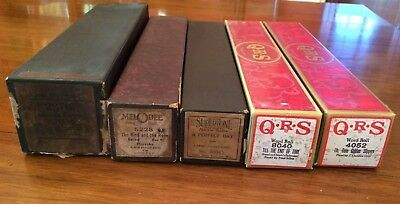 Vintage Player Piano Rolls ( Lot of 5) Supertones, Melodee, QRS and Song Medley