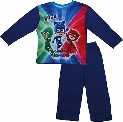 PJ Masks Children's Boys Time To Be A Hero Long Sleeve Pyjama Set New 2017-2018