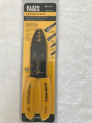 New Klein Tools Vdv010-019-Sen All In One Coax Cable Cutter Crimper Tool Pliers