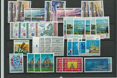 Stamps Europe Super Selection Of Mnh** On 5 Large Stock Cards
