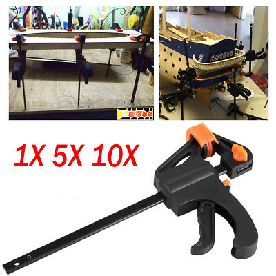 1/5/10PCS 7.5Inch Wood Working Bar F Clamp Grip Ratchet Release Squeeze DIY Hand