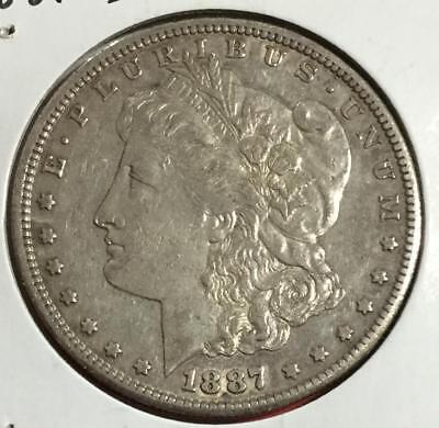 1887S US Morgan SILVER Dollar! Extra Fine! OLd US Coins!