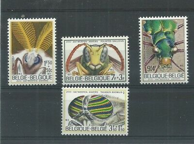 Stamps Belgium 1971 Insects Set Mnh