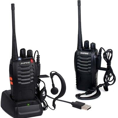 BF-888S+2*Headset UHF 50Ω CTCSS/CDCSS 5W 2* Baofeng Hand-Funkgerät Walkie-Talkie