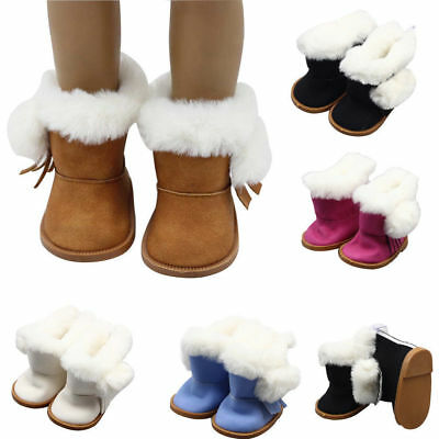 Pair Snow Boots Shoes Accessories for 18 Inch American Girl Our Generation Doll