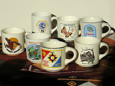 7 Vintage BSA Boy Scouts of America/ Scouting/Camping Coffee Mugs/Cups