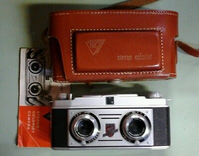 Old antique TDC Stereo Colorist  Camera Germany Bell & Howell 3D Rodenstock Lens