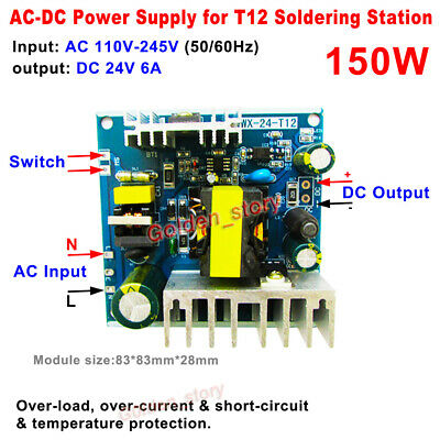 T12 Power Supply Module 24V 150W 6A for STC OLED Welding Soldering Iron Station