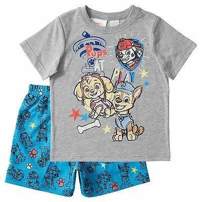 Paw Patrol Skye Chase Marshall 2 3 4 5 T Shirt Top & Shorts Set Pyjama Summer