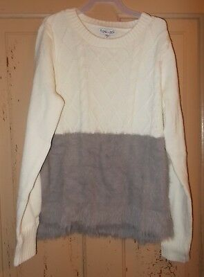 Girls Size Large (10/12) Franki & Jack Brand Long Sleeve Cable Knit Sweater NeW