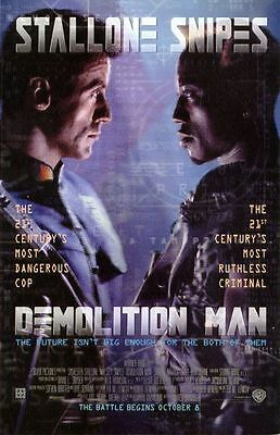 Demolition Man Sylvester Stallone Original Single Sided 27x40 Movie Poster 1993
