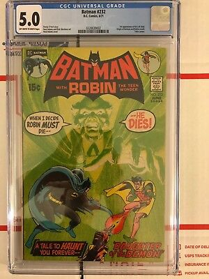 Batman #232 CGC 5.0 (Jun 1971, DC) First appearance of Ra's Al Ghul!
