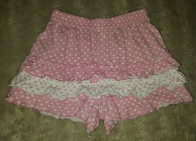 GIRLS Sz 5 pink & white NICKELODEON ruffle shorts CUTE! PRETTY!