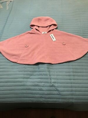 Old Navy Toddler Girls Sweater Cape Shawl Powder Pink Size 2T