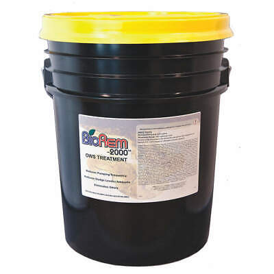 BIOREM-2000 Oil-Water Separator Treatment,Pail,5 gal, 8888-005