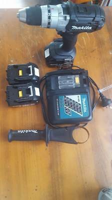 Makita Black Edition 18v Cordless Drill, 3x Lithium Ion Battery, Charger & Case