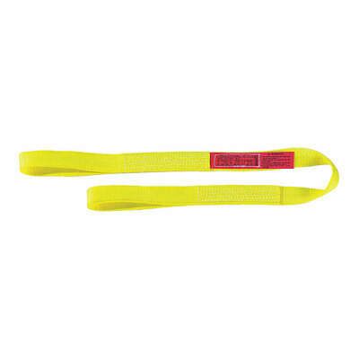 LIFT-ALL Web Sling,Type 3,Nylon,3inW,24 ft.L, EE1803NFX24, Yellow