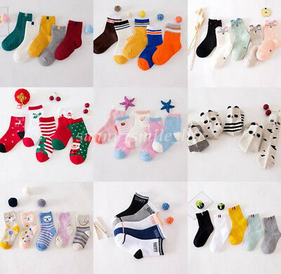 5 Pair Baby Toddler Socks Kids Girls Boys Cute Cotton Anklet Sock Multi Design
