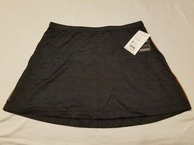 Tail Tech Womens Athletic Skirt New Size L Performance Stretch Black Retail $56