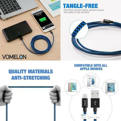 Lightning Cable Braided 3 PACK Lot USB 10ft  Charger Adapter Sync Charge Iphone