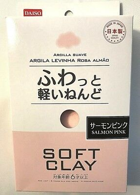 NEW Daiso Japan Soft Clay Salmon pink color DIY Handmade F/S Made in Japan