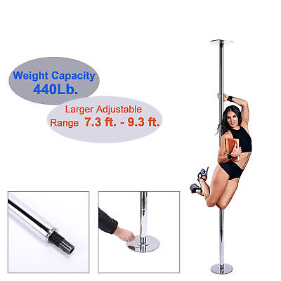 45mm Portable Stainless Steel Dance Pole Spinning Static Dancing Fitness