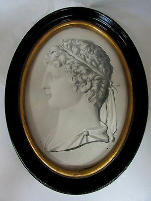 Framed Portrait Drawing Of Roman Noble Man By Lady Di Ros ? Pencil Pen Ink Wash