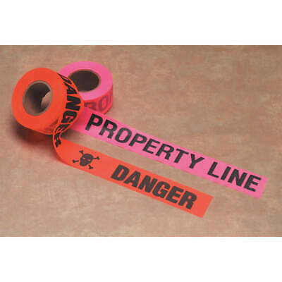 PRESCO PRODUCTS PVC Flagging Tape,Property Line,Pink Glo, CUPGBK51-200, Pink Glo