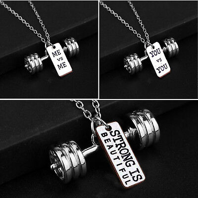 COLGANTE strong -PESAS-MANCUERNAS-FITNESS-CROSSFIT-GYM MODA CHARMS DUMBBELL