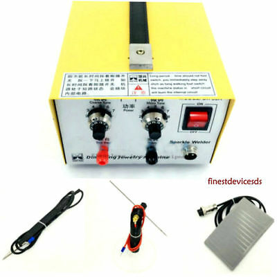 Pulse Sparkle Spot Welder  Jewelry Welding Machine Gold Silver Platinum 30A US