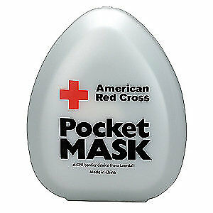 AMERICAN RED CROSS Pocket CPR Mask,Universal,Clamshell, 363705-GR