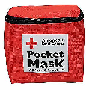 AMERICAN RED CROSS Pocket CPR Mask,Universal,Pouch, 363015-GR