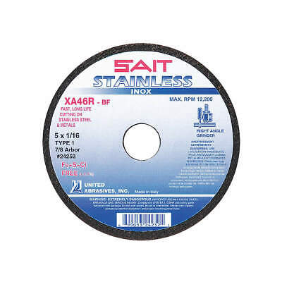 "UNITED ABRASIVES-SAIT CutOff Wheel,STAINLESS,4-1/2""x1/16""x7/8"", 24251"