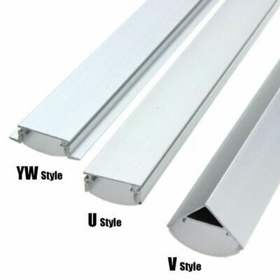 1/5/10X 30/50cm U/V/YW Style Aluminum Channel Holder Milk Cover Cap LED Strip