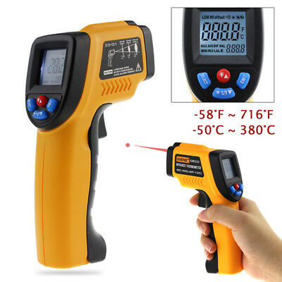 Non Contact Temperature Gun Digital Infrared Thermometer LCD Pyrometer Portable