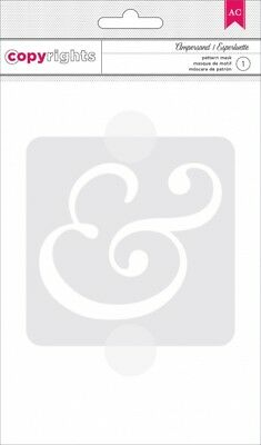 American Crafts Copyrights - Stencil - Ampersand