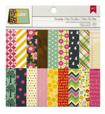 "American Crafts Papierblock 6"" x 6"" EVERYDAY (36 Blatt)"