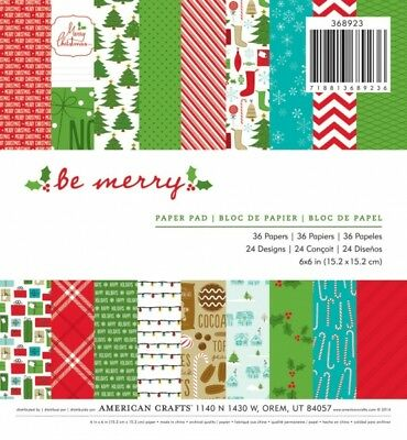"American Crafts Papierblock 6"" x 6"" HOLIDAY (36 Blatt)"