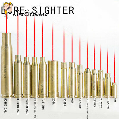14 Style Red Dot Laser Cartridge Bore Sighter Caliber Cartridge Boresighter Tool