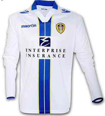 *NEW BNWT* LEEDS UNITED Long Sleeve SMALL Home Shirt 2013/2014 - RRP £46.00