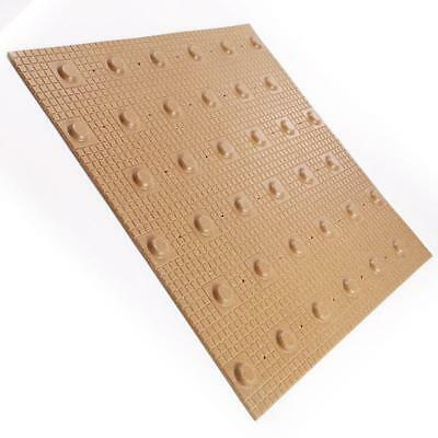 Surface Mounted Buff Highway Blister Tactile Paving 400mm x 400mm (Box 10 Tiles)