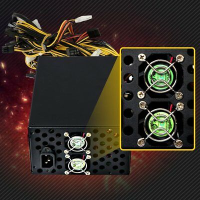 1300W Modular Power Supply For 6 GPU Eth Rig Ethereum Coin Mining Miner KL