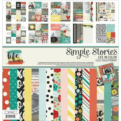 "Simple Stories Collection Kit 12""X12"" Life in Color"