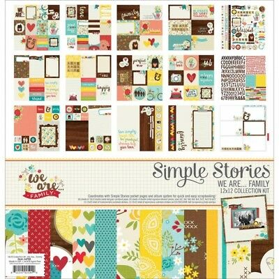 "Simple Stories Collection Kit 12""X12"" We Are Family"