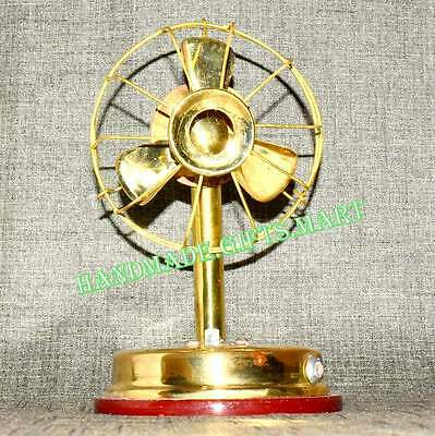 Brass Vintage Style Gift Collectible Antique Decorative Small Working ableFan #